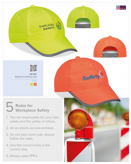 Safety-First 6 Panel Cap